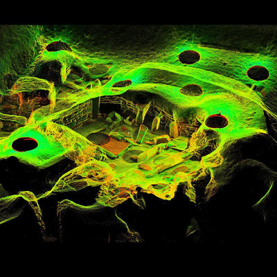 LiDAR Scan of House 4, Skara Brae