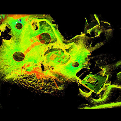 LiDAR Scan of House 6, Skara Brae