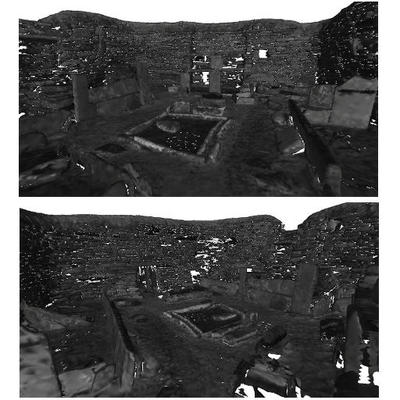 3D mesh model of House 1, Skara Brae