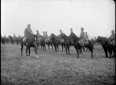 Revue de l'armée russe par le Tsar Nicolas II