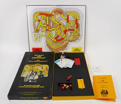 ASB jubileumspel, naar idee van afdeling Reclame en Promotie van ASB Uitzendbureau en Van de Laken B.V.