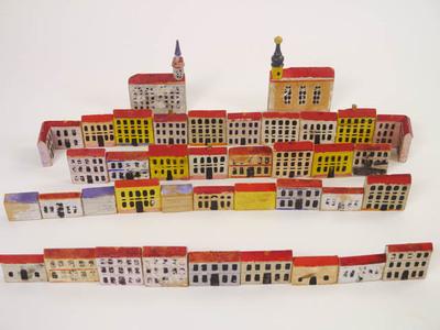 36 huizen en twee kerken van hout uit Neurenberg