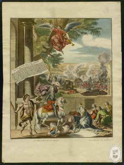 Sieg Uber die Galli Spanier bey Saragossa, Anno 1710, den 20, Augusti [Material gráfico]