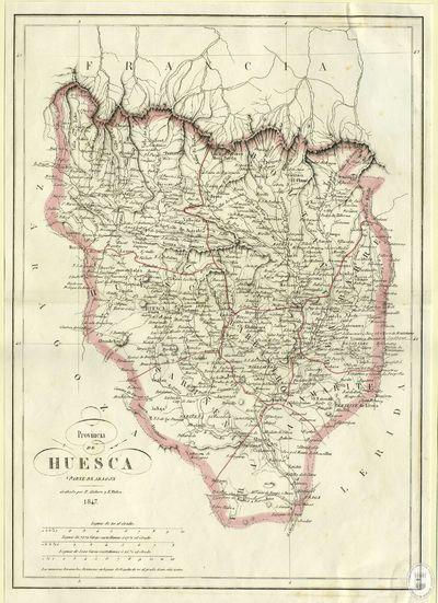 Provincia de Huesca [Material cartográfico]: parte de Aragon