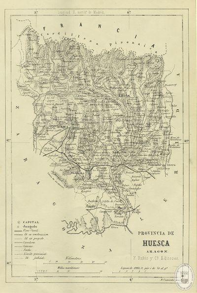 Provincia de Huesca [Material cartográfico] : Aragón