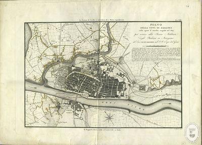 Piano de la città di Zaragoza colle opere d'assedio esseguite nel 1809 [Material cartográfico]: per servire alla Storia Militare degli Italiani in Arragona