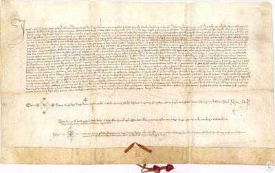 [PRIVILEGIO otorgado en Valencia por Martín I de Aragón, a los oficiales de los lugares del Común de Daroca, por el cual no tienen obligación de dar cuenta de la administración de las primicias a su Majestad] [Manuscrito]