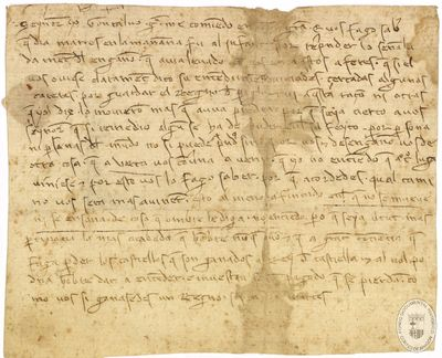 [Carta de Gonzalo García dirigida a Jaime II en la que se le comunica haber reprendido al infante en relación con asuntos del reino] [Manuscrito]