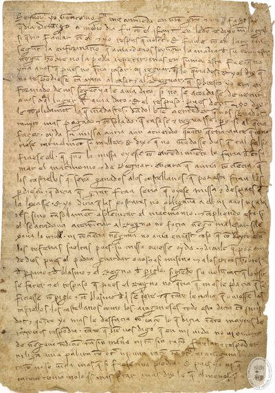 [Carta dirigida a Jaime II comunicándole haber hablado con el infante don Jaime y las intenciones del mismo de no reinar, ni casarse con Leonor de Castilla] [Manuscrito]