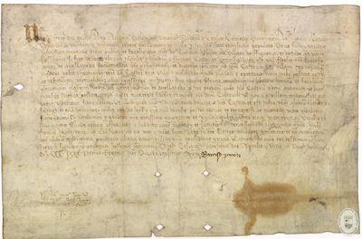 [Licencia real para cambiar el trazado del Camino Real que conduce de Girona hasta Figueres y después continúa hasta el Roselló] [Manuscrito]