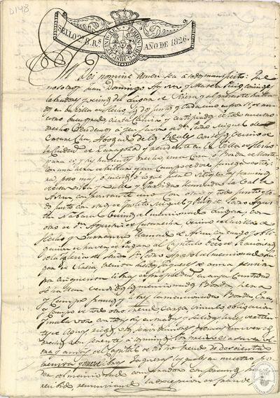 [Papeles referidos a cambios en la propiedad de una borda o casa de monte, era y campo, situados en la villa de Hecho] [Manuscrito]