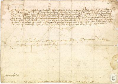 Nombramiento, 1487 oct. 8, como montero real de Rui Gómez de Espinosa [Manuscrito]