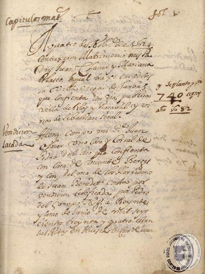 [Documentación miscelánea perteneciente a la familia Claver, de la provincia de Huesca] [Manuscrito]