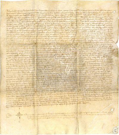 [Traslado notarial de varias disposiciones dictadas por el rey Juan I, en 1389, sobre algunas investigaciones efectuadas a sus oficiales, y acerca de las cuales se había abierto una pesquisa, efectuada en Fraga (Huesca), ante el notario Pedro de Sarasa] [Manuscrito]