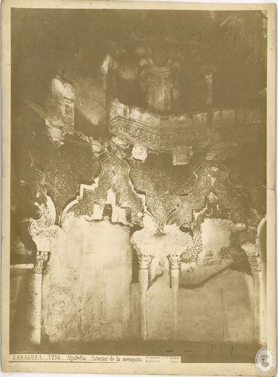 ZARAGOZA [Material gráfico] : 1730 : Aljafería : Interior de la mezquita