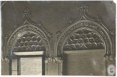 [Ornamentación de las ventanas de la escalera principal de la Aljafería] [Material gráfico]