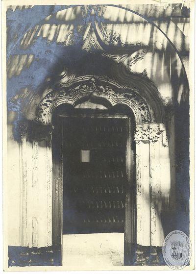[Puerta lateral del Salón del Trono de la Aljafería] [Material gráfico]