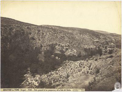 Monasterio de Piedra (Aragón) [Material gráfico] : 1646 : Vista general de las pesqueras y de la Peña del Diablo