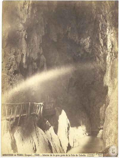 Monasterio de Piedra (Aragón) [Material gráfico] : 1649 : Interior de la gran gruta de la Cola de caballo