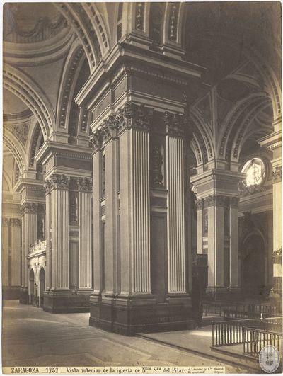 Zaragoza [Material gráfico] : 1757 : Vista interior de la iglesia de Ntra Sra del Pilar