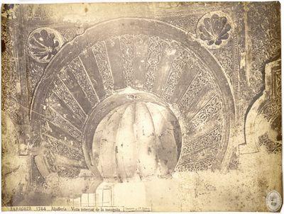Zaragoza [Material gráfico] : 1744 : Aljafería : Vista interior de la mezquita