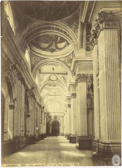 ZARAGOZA [Material gráfico] : 1694 : Vista interior de Ntra Sra del Pilar