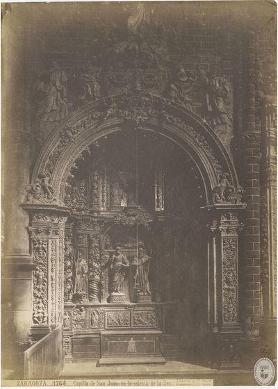 Zaragoza [Material gráfico] : 1764 : Capilla de San Juan, en la iglesia de la Seo