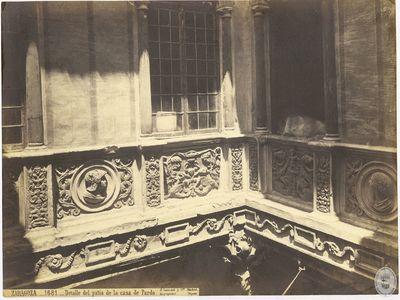 Zaragoza [Material gráfico] : 1681 : Detalle del patio de la casa de Pardo
