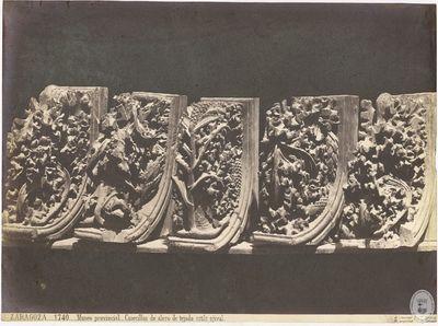 Zaragoza [Material gráfico] : 1740 : Museo provincial : Canecillos de alero de tejado, estilo ojival
