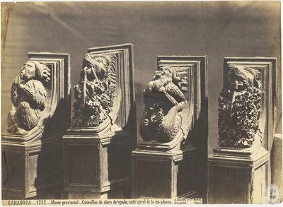ZARAGOZA [Material gráfico] : 1737 : Museo provincial : Canecillos de alero de tejado, estilo ojival de la ex-aduana