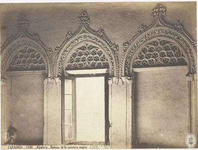 Zaragoza [Material gráfico] : 1747 : Aljafería : Ventana de la escalera mayor