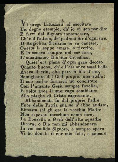 Istoria bellissima di Angelina siciliana la quale amava grandemente Gesu Cristo dalla quale sentirete ...
