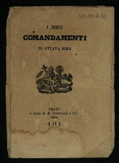 I dieci comandamenti in ottava rima