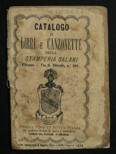 Catalogo di libri e canzonette della stamperia Salani