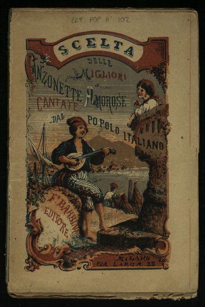 Scelta delle migliori canzonette amorose cantate dal popolo italiano