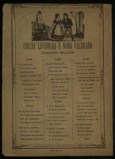 Isolina lavandara e Nanni Calzolaro : canzonetta brillante