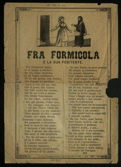 Fra Formicola e la sua penitente