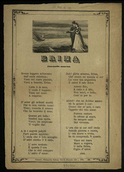 Erina : canzonetta amorosa