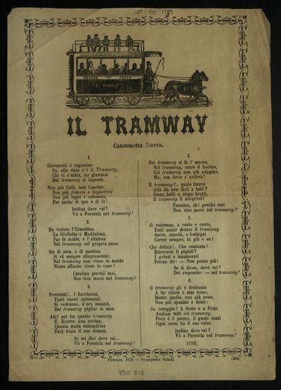 Il tramway : canzonetta nuova