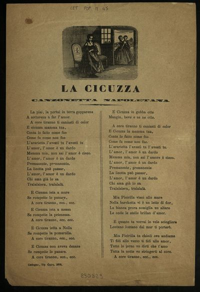 La cicuzza : canzonetta napoletana