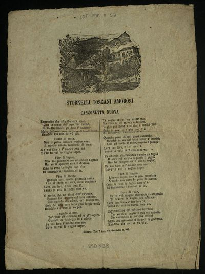 Stornelli toscani amorosi : canzonetta nuova
