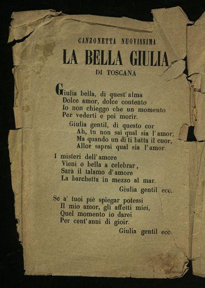 Canzonetta nuovissima : la bella Giulia di Toscana