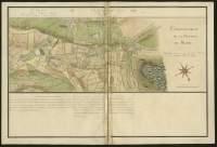 Atlas de Trudaine pour la généralité d'Alençon. Grande route de Paris en Bretagne par Verneuil et Mortagne depuis la Piramide de Dreux jusqu'à celle du Gué-David. Portion de route entre La-Lantillière et La-Longrais, passant à Lalacelle (La-Lacelle) et arrivant au Gué-David, qui marque le commencement de la province du Maine et  les limites des généralités d'Alençon et de Tours.