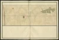 Atlas de Trudaine pour la généralité d'Alençon. Grande route de Paris à Caen par Lizieux depuis le château de Graveron jusqu'au pont de Dive. Portion de route arrivant au hameau La-Neuville (La-Neuville-de-Combon).