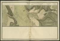 Atlas de Trudaine pour la généralité d'Alençon. Grande route de Paris à Caen par Lizieux depuis le château de Graveron jusqu'au pont de Dive. Portion de route entre La-Rivière-Thibouville et Fontaine-la-Soret jusqu'à hauteur du hameau Le-Bohain (Bauhim).