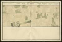 Atlas de Trudaine pour la généralité d'Alençon. Grande route de Paris à Caen par Lizieux depuis le château de Graveron jusqu'au pont de Dive. Portion de route entre Le-Marché-Neuf et Le-Mesnil-Varin.