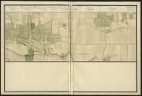 Atlas de Trudaine pour la généralité d'Alençon. Grande route de Paris à Caen par Lizieux depuis le château de Graveron jusqu'au pont de Dive. Portion de route entre L*Hôtellerie et Marolles.