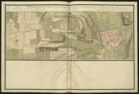 Atlas de Trudaine pour la généralité d'Alençon. Grande route de Paris à Caen par Lizieux depuis le château de Graveron jusqu'au pont de Dive. Portion de route arrivant à lisieurx (Lizieux) depuis le hameau de Grez.