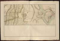 Atlas de Trudaine pour la Généralité de Bourges n° 12. Route de Bourges à Tulle jusqu'à Aigurande où finit la généralité. Passant par Chateauneuf, Linières et La-Châtre. (Cher, Indre). Route de Bourges à Tulle (14 cartes). Pont de cette route (14 feuilles). Copie des mêmes ponts (10 feuilles). Portion du grand chemin de Bourges à La-Chastre à hauteur du château Le-Magnou, arrivant à Châteauneuf-sur-Cher.