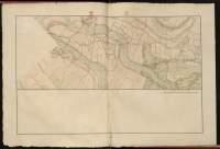 Atlas de Trudaine pour la Généralité de Bourges n° 12. Route de Bourges à Tulle jusqu'à Aigurande où finit la généralité. Passant par Chateauneuf, Linières et La-Châtre. (Cher, Indre). Route de Bourges à Tulle (14 cartes). Pont de cette route (14 feuilles). Copie des mêmes ponts (10 feuilles). Portion du grand chemin de Bourges à La-Chastre passant entre Saint-Hilaire-en-Lignières (Saint-Hilaire) et Riau-Baril (Riaubary), allant jusqu'à Les-Cossons.